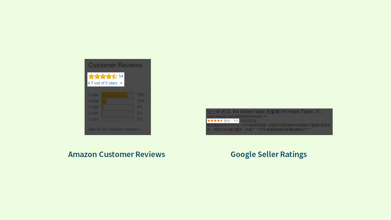 Customer Review & Seller Rating