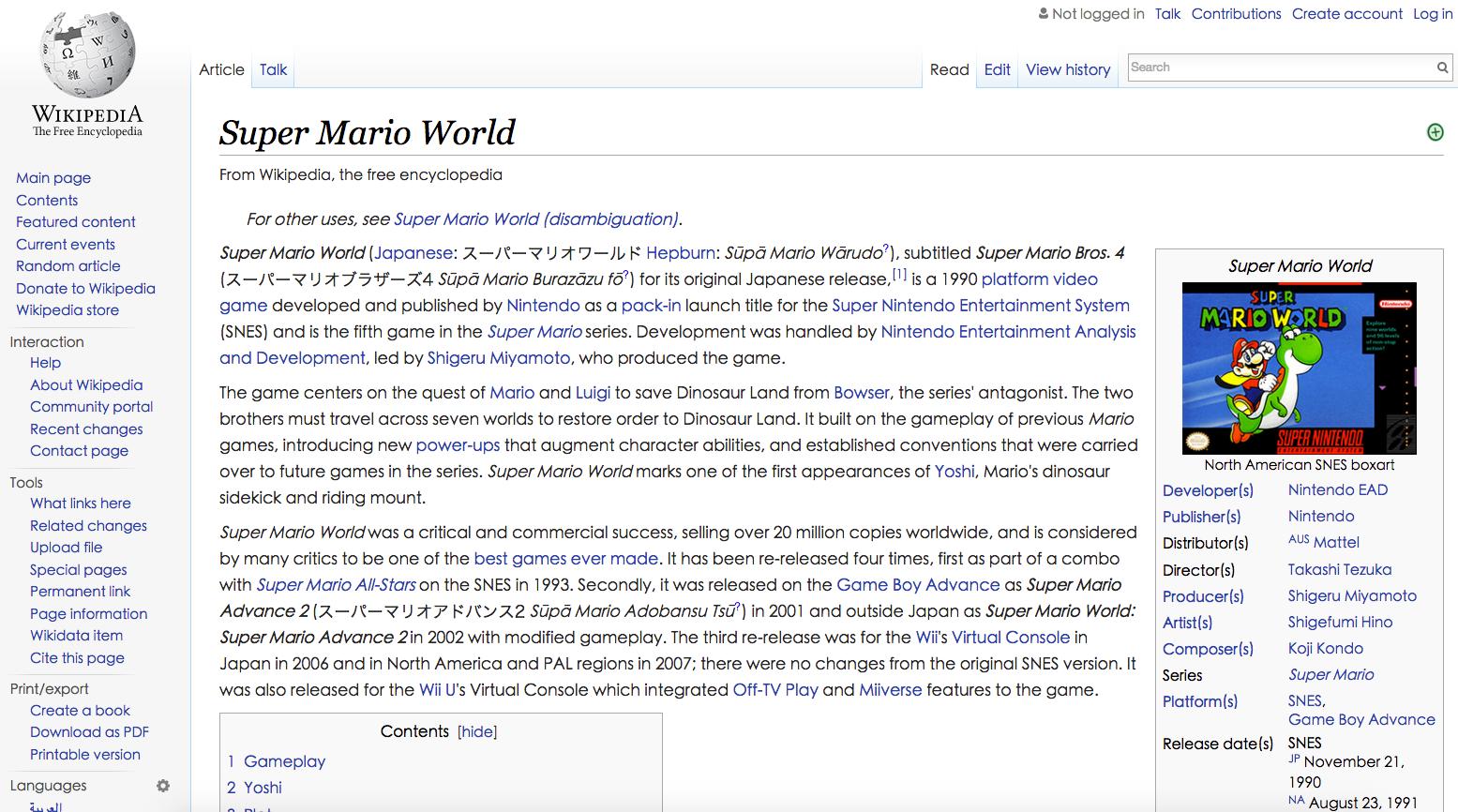 維基百科超級瑪莉