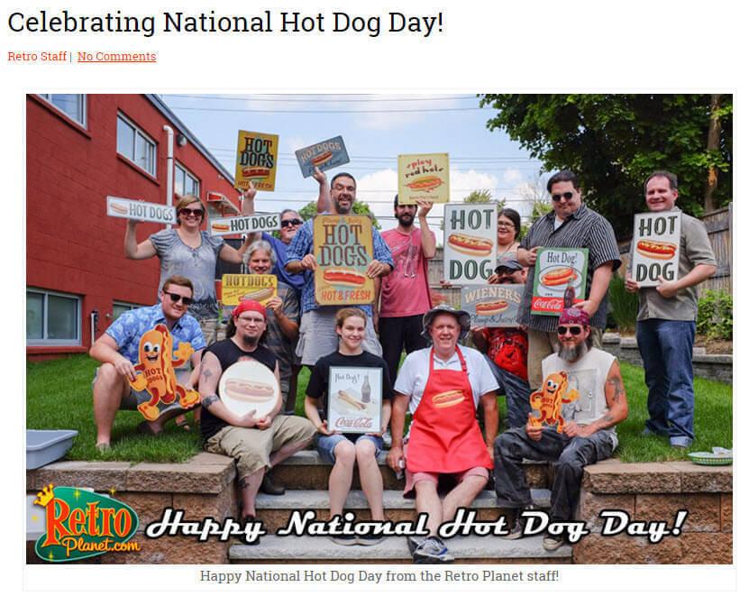 Retro-Planet-Celebrate National Hot Dog Day