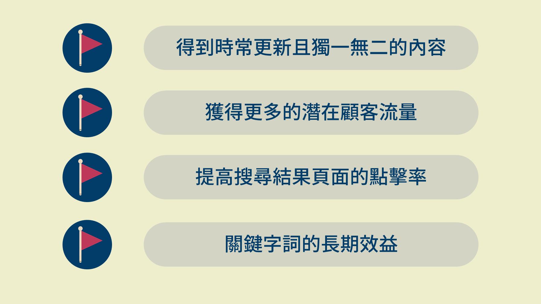 SEO上4項優勢