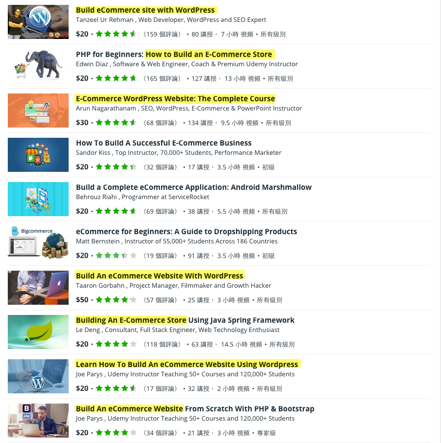 Udemy-Build e commerce website