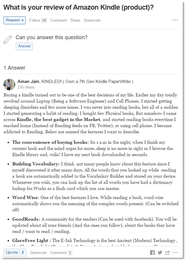 在Quora上获得Social Proof
