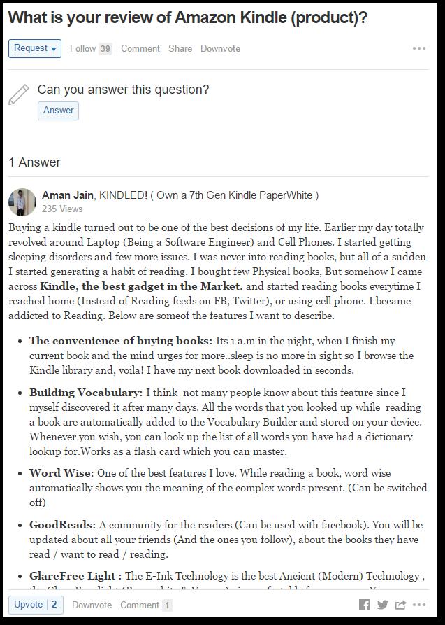 在Quora上獲得Social Proof