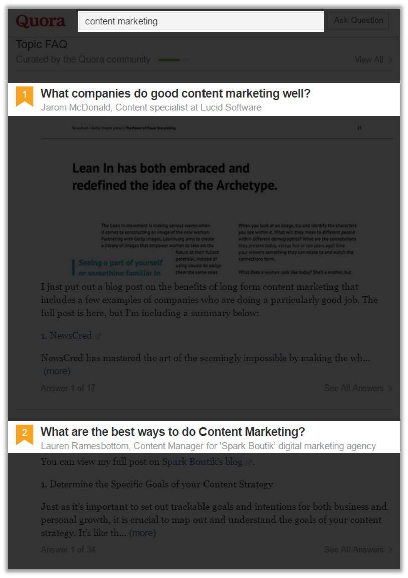 在Quora上搜尋,並改為較能吸引注意力的標題