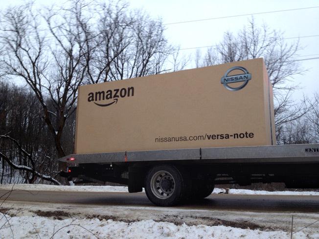 Amazon的超巨大紙箱