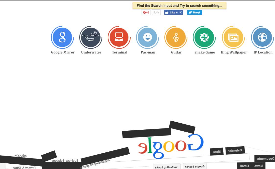 Google Doodle 重力遊戲