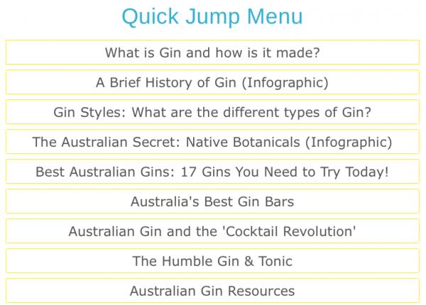 Quick jump Menu_australian Gin