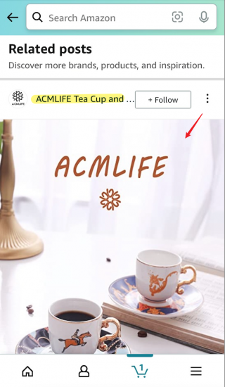 Amazon Post - Brand Related feed
