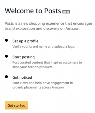 How to set up Amazon Posts - step 2