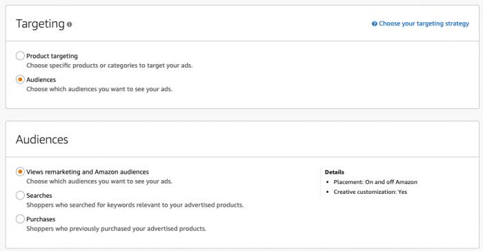 Sponsored Display Ads - Targeting - Audience